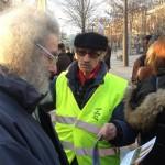 """Gil Leparmentier à la manifestation contre la """"tour Triangle"""""""