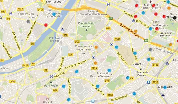 la carte des antennes 4g issy les moulineaux europe. Black Bedroom Furniture Sets. Home Design Ideas