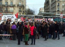 Tour triangle : manifestation du 18 janv. 2014